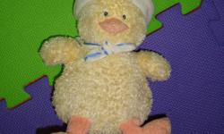 I have a Gund Duck Plush Toy for sale! This is in excellent condition and would look great in your child's room or to give as a gift. Comes from a non-smoking household. Do not miss out on this excellent opportunity to get this for a fraction of the cost!