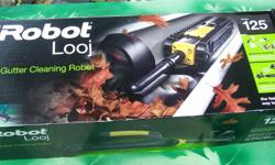 The iRobot Looj Gutter Cleaning Robot, Model 125. Cleaning Power: The robot uses a flexible three stage auger to remove clogs, lift out debris and brushes gutters clean. Spinning at 350 RPM. Remote Control Convenience: The remote control gives you