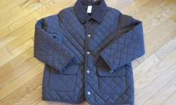 Beautiful Gymboree quilted jacket. Chocolate brown. Fleece lined. Large - size 10. Liike new. Ideal for Fall and Spring.