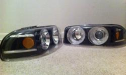 I could not get the halos to work, but the LEDs do work! Lights fit a 01-06 gmc sierra... $180.00 OBO This ad was posted with the Kijiji Classifieds app.