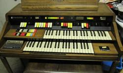 Model 126 Hammond Organ in good working condition.   Call for more information or to view.