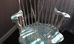 Hand painted rocking chair - cute for kids room Please call or text no email 250-510-0890