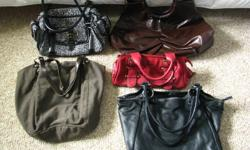 Purchase ALL 5 HANDBAGS/PURSES for only $25.00. All of them are in good and clean condition. They were well taken care of.
