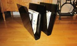 Handcrafted acrylic magazine rack. Classic 1970's design. Yours for $10 or best offer.