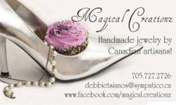 Handcrafted jewelry made by Canadian artisans. Huge selection for women, children and babies. Please visit my shop at   http://www.facebook.com/magical.creationz   Also check out my bridal jewelry shop at