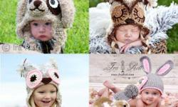 1500+ images of my crochet animal hats, patterns and much more. Newborn to adult sizes. ( Hat Prices from 30.00 and up ) (Pattern Prices from 2.50 and up we also have a few free patterns ) Elephants, dogs, cats, penguins, monkey, zebras, sharks, owls,