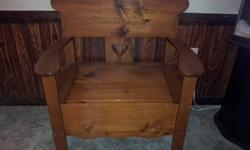 Handmade wooden bench with storage Nice bench lots of hours put in to bench very solid