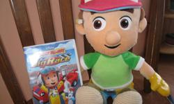 "Handy Manny Doll Very soft From the Disney Store Measuring: 18in tall AND A Disney Handy Manny ""BIG RACE"" Dvd (No scratches / marks) Great for any child who loves Hanny Manny! Can meet in west end of Ottawa (Kanata) or pickup in Constance Bay"