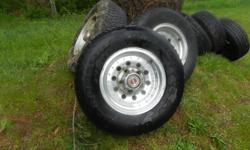 3 only; on alloy rims. 2 have lots of miles left on them. Rims are in decent shape. Sorry; Don't know what they fit.
