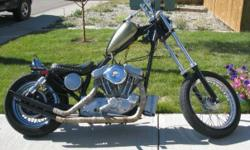 """Mikuni Carb Andrews Cam Custom head work Custom Exhaust Custom Paint 6""""out/8""""up/12"""" over front end (handles awesome) Goes like stink and very light Needs a little polishing (reflected in price) Cheaper than a donor bike and this turns heads!"""