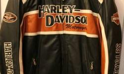 Genuine Harley Davidson Jackets   Mens - 2XL with detachable liner. $325.00 Ladies - 1W with hooded jacket liner. $325.00 Ladies Vest - XL $50.00 Mens Vest - 44 inch adjustable $50.00 Mens Chaps - Heavy Leather - Large $75.00   All prices firm and no