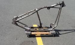"""NEW Rigid style stock 30 rake 0 stretch Harley Davidson metal bike frame. Lenght in inches 55"""". 57 pounds. Comes with manufactures """"certificate of origin papers"""
