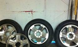 4 very good Harley rims off f250 diesel truck 3 tires at 30-40% tread This ad was posted with the Kijiji Classifieds app.