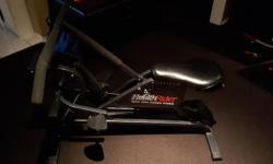 Uses your body weight to give you a full body workout. Combination of an exercise bike and rowing machine.