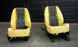 Driver and Passenger front seats - heated, cooled, fully powered for all movement. These seats are in great condition but do not include covers. They should fit later Model (2009 and newer) Tahoe, Suburban Yukon, Denali. Leather has been removed for use