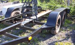 Tandem Trailer, Dropped axles with brakes, new lights. Rated 5,000 lbs. The boat stands you see on the trailer are not for sale. Would make a great sailboat cradle trailer or utility. Made from tube , not channel. Very sturdy. $900.  289-407-7631