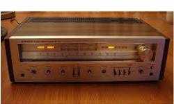 Hi, i am looking for heavy old home Stereo Amplifiers, or Amp/ Tuners, working or not. I like the ones with wood or wood veneer or even imitation wood on them, but shiny aluminum is great too, as long as it is old and heavy. Call, text or email Bob