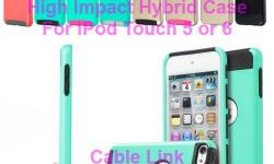 High Impact Hybrid Case for IPod Touch 5 or 6 -Dual material hybrid design: 2-piece hard plastic front&back cover and soft silicone inner layer -Hard plastic cover protects your phone from dents, bumps and other unwanted damages -Durable silicone inner
