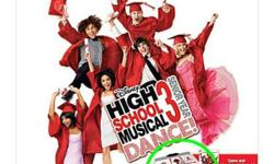 High School Musical 3: Senior Year DANCE! Dance Pad included (see inside of green circle). BONUS! Includes Dance Dance Revolution Universe 2 disk for FREE! Players can dance to the beat of their favourite High School Musical songs in familiar movie