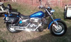 His & Her 2000/2001 Suzuki Marauder's   HIS   2001 Suzuki Marauder  VZ 800 Mint Condition  lots of upgrades  Mustang Seats,Vance and Hines Pipes, Passenger Backrest , Saddlebages, Kuryakyn Grips and Pegs, Chrome Rad Cover, Windshield, Bike Cover, New Back