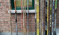 Good selection of right, left and children's hockey sticks. Note that for the adult sticks the lower priced sticks are only suitable for street hockey, not ice hockey Brands such as: Bauer, KOHO, Easton, Sherwood, JOFA, CCM etc Pictures from first to