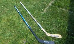 1 new right hand hockey sticks for sale. Easton, Ultra composite $30.SOLD Titan, $20. We are located in Orleans. See our list of other items for sale. First come, first served.