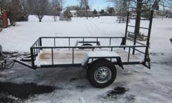 14 inch tires solid light trailer 2x6 floor $575.00 e-mails will not be answered phone calls only. 613-341-8739 or 613-349-1149