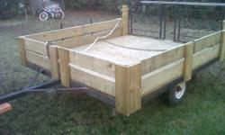 7 ft lenght 6 ft wide home made trailer $350 or O.B,O  or trade lets see what you have