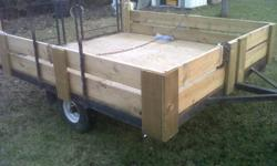 7 ft lenght 6 ft wide home made trailer $250 or O.B,O  or trade lets see what you have