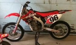Lgs susp. Asv levers. New linkage and swing arm bearings. Good tires. Needs nothing! Best offer. Will also consider trade for newer 125 two stoke. This ad was posted with the Kijiji Classifieds app.