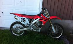 Must sell, no riding time! Comes with boots and chest protector This ad was posted with the Kijiji Classifieds app.