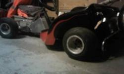 5.5 hp 4 stroke O.H.V. honda heat wrapped low profile muffler and pipe (sounds great) fresh synthetic oil change new fuel filter new clutch factory built tube chassis greaseable front steering linkage, steering knuckles, and rear axle aluminum fuel cell