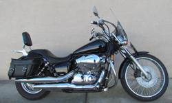 Honda Shadow Spirit 2007 20,000 KMs. This bike is in excellent condition owned by lady who is now riding a trike. Extras include windshield, windshield lowers, bags, Sissy bar. Crash bars. $4250 2701 Alberni Hwy, Coombs. BC. V0R 1M0 D# 9129 Consignment