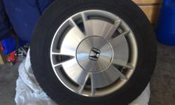 4 tires 2009 Honda Civic all season P195 / 65R15 Toyo tires with aluminum rims Pick up in Dunrobin