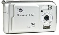 The HP Photosmart E427 Digital Camera features 6-megapixel resolution and 5x digital zoom, enabling users to produce true-to-life 4 x 6-inch prints and enlargements up to poster size. Snap photos quickly and easily ? frame and view on the large, 2-inch