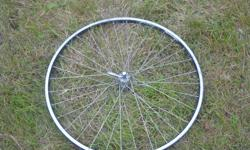"""alex rims dm18 29"""" front wheel . some rock rash on rim . clearing out the shed and this needs to go!"""