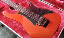 Well I'm letting it go much to my disdain, but up for sale is an Ibanez Prestige RG 655 mint in case. Color is firestorm orange. Wizard neck, original edge bridge, Dimarzio tone zone and air Norton combo. I bought this guitar less than a year ago, it's