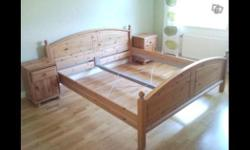 Ikea double bed. Slats not in picture but included.