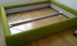 For immediate sale: IKEA GRIMEN Queen Bed Frame - HARD TO FIND discontinued IKEA GRIMEN model. $599 original retail price. - Comes with green wool cover and all hardware. - PICK UP ONLY in Yonge & Sheppard area. - For sale at $250 or best offer. - Like