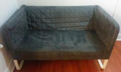 Small grey loveseat with removable and washable cover. Only used about 6 months. Retails for $150. Pick up only please.