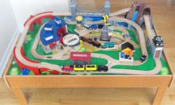 Selling a Imaginarium Train Table along with Thomas the Train Cars. All items are in excellent shape as very lightly used. Includes : Imaginarium Train table with its own Train cars and accesories. 20 Authentic Thomas Train cars 17 Extra pieces of track
