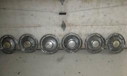 """Hub caps for a 1969 Chevy Impala - 6 - 15"""" - matching - asking $30.00 - call 306-382-4049"""