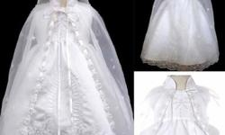 Beautiful baptism gown only worn once for about and hour. Comes with everything in picture. Can deliver to Regina.