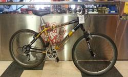 """18"""" mountain bike with 24 speeds and front shocks. Good for commuting or light trail riding. ******* Hub City Cycles: Professionally overhauled bicycles at exceptional prices All bicycles come with a 30 day warranty; any mechanical issues in that time"""