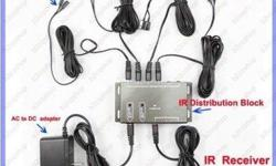 This Unit is expandable to 3 Receivers and 12 Emitters. It is Capable of 3 Rooms and 12 Devices. Works with Rogers, Bell Express view, Bell Fibe, Shaw Direct, DVD Players, BluRay Players, Amplifiers and anything else that uses IR communication. Remote