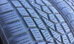 Never too early to get your winter tires , buy them for 185$ and have them installed for 65$ in the fall . they are great shape 80% on two and 70% tread on the other . Please call during business Hours 9:30 to 5pm Tuesday to Saturday 250 246 5443 , Please