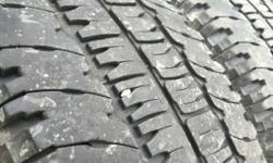 These tires are in good shape they are 50% tread Please call during business Hours 9:30 to 5pm Tuesday to Saturday 250 246 5443 , Please search RkTire Chemainus for location thanks Rob. Please view my sellers list Text 250 701 8335 Plus Taxes