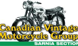 Interested in vintage, classic and antique motorcycles?   Why not join fellow enthusiasts with the Sarnia club of the Canadian Vintage Motorcycle Groups.   Meets the first Tuesday of the month at the Navy Club, 1420 Lougar Ave. at 7:00pm. or check out our