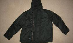 Intermediate Cold Weather Parka - Army Surplus Color: a really dark green almost black Size: 36, 38, 40, 42 Location: Granny's Attic, 25 North Main Street, Deer Lake Fleemarket - Valley Mall - Corner Brook - every Sunday