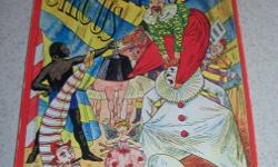 1979 reproduction of Lothar Meggendorfer's International Circus Pop up soft cover book. Thought by many to be the masterpiece of all his pop up books,1st edition was published in 1887. 6 scenes featuring exciting circus acts from around the world. This